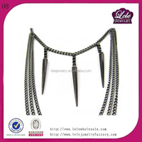 Hot new fashion necklace jewelry 2015 stainless steel chain for body/neck design