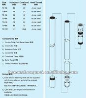 T2 series double tube core barrels/drilling tool