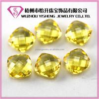 Antik shape synthetic citrine glass gemstone briolette