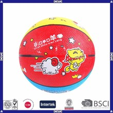 custom kids lovely rubber basketball