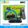 2015 cheap price Amlogic S802 M8C google android 4.4 tv box quad core camera 5.0MP