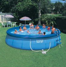 2015 Blue durable portable PVC easy set swimming pool for family