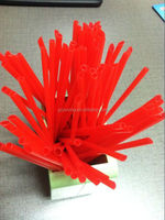 red hard straight beveled plastic pp drinking straw