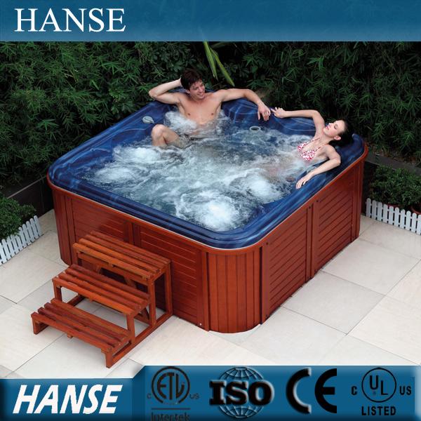 De madeira cypres HS-092CY aqua jet jardim europa banheira spa banheira de água quente