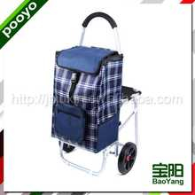 two wheel luggage trolley swimming suit bag polyester