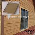edificio de construcción moderna de la madera pared de la casa de plástico exterior pvc madera compuesta revestimiento