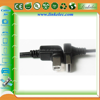 two sided ferrite double angle magnetic usb cable