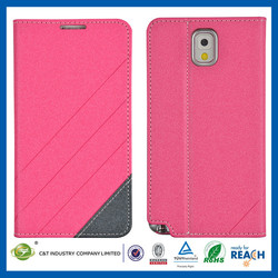 C&T New Crystal plastic leather stand case for samsung note 3
