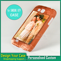 Fashionable customized design plastic protective cell phone cases cover for Samsung I879