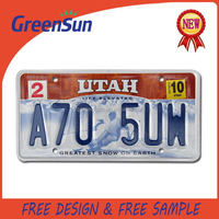 New product professional polar bear dealer license plate