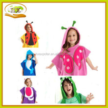 100%Cotton New Kids Baby Children Movie Character Poncho Beach Bath Hooded Towel