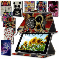 """Universal Leather Folding Stand Case Cover For 7"""" 7Inch Android PC Tablet Free Shipping Cost"""