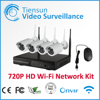 wifi ip camera with nvr kit 4 Channel 720p Wireless Security System H.264 Wireless NVR Kit
