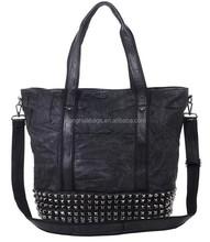 fashion contract color burnished shinny handbag, new model purses and ladies handbags china manufacturer handbag
