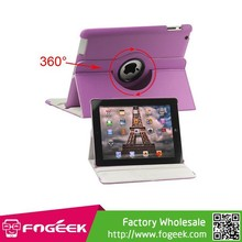 360 Degree Rotating for iPad 2 3 4 Leather Case Cover with Stand