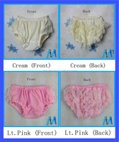 2015 Hot sales! Baby Pink Wholesale Lace Bloomers Girls Lace Ruffle Tutu Bloomers Baby Bloomers