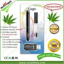 Logo print refilling vaporizer, 510 thread CBD oil atomizer refillable vaporizer pen mini e cigarette