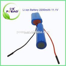 Customize Battery 12 Volt Lithium Battery Pack 2200mAh 18650