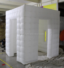 2015 new brand wedding inflatable photo booth studio/white/3 doors/2.4*2.4*2.5m(H)/PVC--W7792
