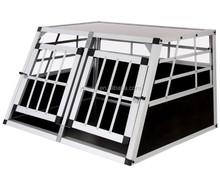 Aluminium Double Dog Pet Cage Transport Crate Car Travel Carrier Box