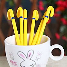 wholesale cute yellow promotional students unique stationery cane pen