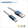 8 colors metal shell metal tip USB type C to USB 3.0 male cable
