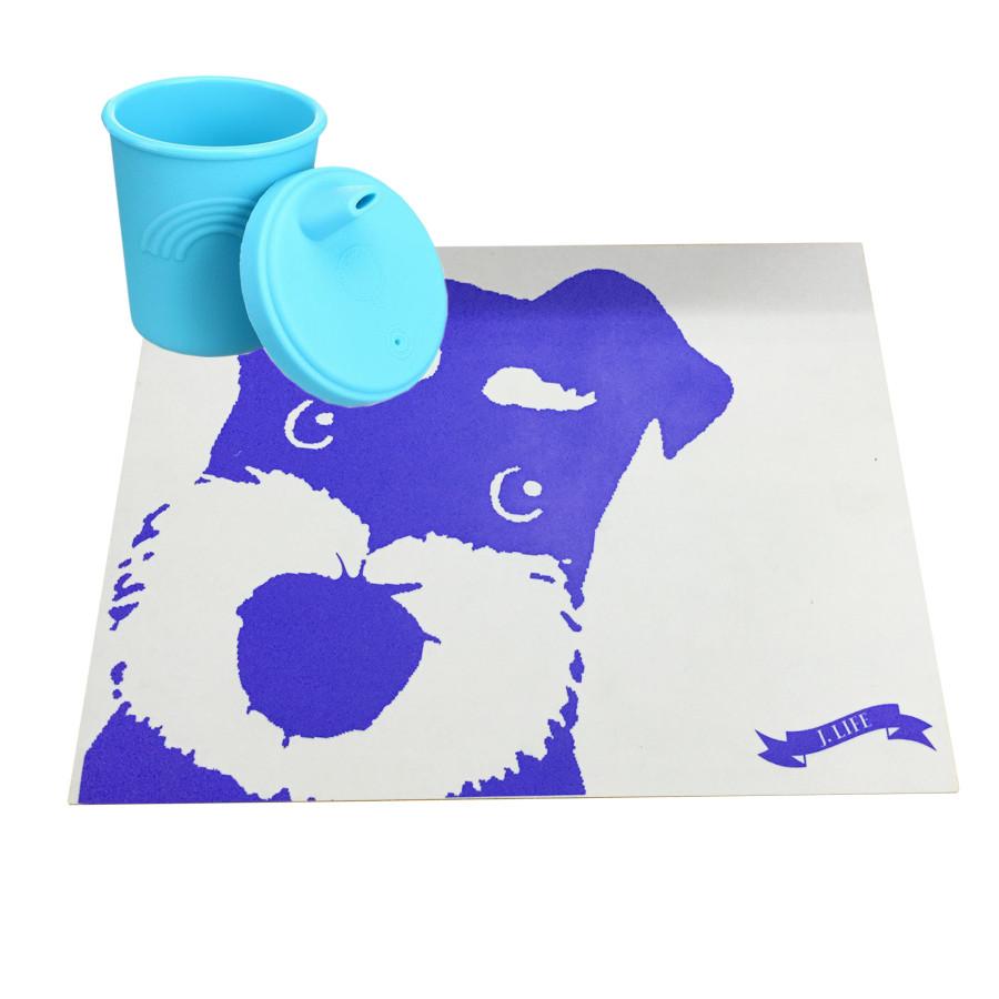 Disney aprobado fábrica logotipo personalizado diseño 40x30 cm FDA alimentos grado silicona mesa de comedor