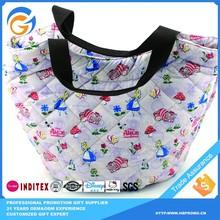 Reusable Promotion handbag Korea Supplied Canvas Shopping Bag with Zipper China