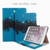 With stand up function and cards slots magnet pu leather case for ipad/mini