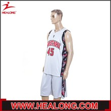 mens both sides wear 100 polyester sample basketball uniform design