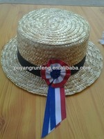 new design straw knot burket hat for wholesale/customized boater hat