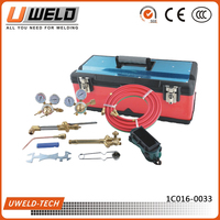 Portable American Victor Gas Torch Welding Cutting Set with Cylinders