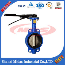 Manufacturing High Quality Ductile Iron Wafer Type Butterfly Valve