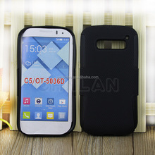 2014 High Quality Silicone + PC Combo Hard Case Cover for Alcatel One Touch Pop C5 Phone Cover