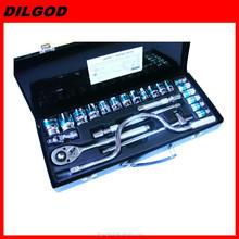 "12""DR 24PCS samll spanner Socket wrench set vehicle repair tool kits"