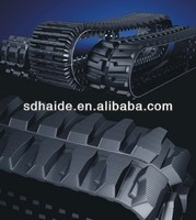 Doosan excavator rubber track, rubber crawler track for bulldozer/snow vehicles,mini digger rubber track