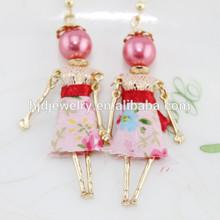 ingrosso abbigliamento nuovo modello di bambola disegni orecchini per le ragazze