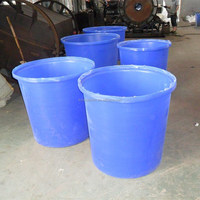 300 litres cheap small plastic blue water drum/bucket for storage