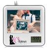 personalized photo frame clock, Frame/Clock/Desk Organizer