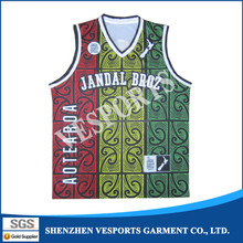 New style wholesale sublimated basketball jersey design
