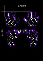 Best quality rhinestone hotfix,Hand print paws hot fix rhinestone