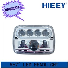 DOT approval 5* 7 inch square automotive led headlight high and low beam for Truck,Jeep, Atv 7 inch headlight with DOT APPROVAL