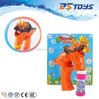 Hot Electric Plastic Toy Dinosaur Bubble Gun Solid Color Bubble Gun