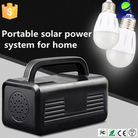 Commercial and home Application mobile home solar system with led lights