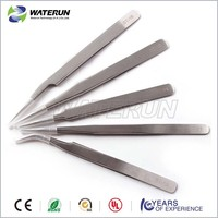 Vetus pointed stainless steel eyebrow tweezers