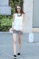 Veri Gude Summer new ladies slim fit sleeveless white chiffon blouse
