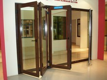 thermal break 4 panels aluminum folding door