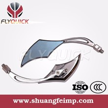 FLYQUICK High Quality New Simple Chrome Motorcycle Universal Modified Rear View Back Mirror for Kawasaki Suzuki Honda Yamaha