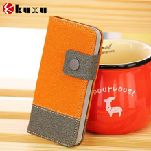 Charming color matching design PU leather mobile case for smart phone wholesale