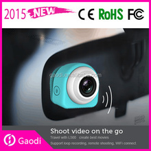 Mini Dashboard Car DVR Dash Cam and Rear View Video Car Camera Accident Recording System with Motion Detection